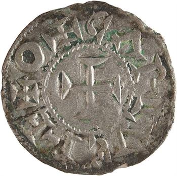 Poitou (comté de), au type de Charles le Simple, denier immobilisé, Melle, s.d. (XI-XIIe s.)