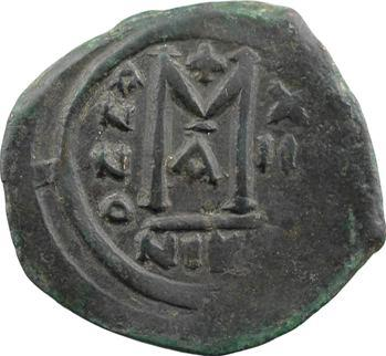 Maurice Tibère, demi-follis, Nicomédie, 1re officine, An XIII = 594-595