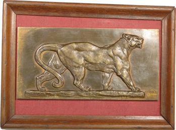 Heizler (H.) : Panthère, fonte de bronze, s.d. Paris