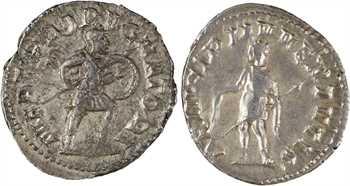 Hostilien et Hérennius Etruscus, lot de 2 antoniniens, Rome, 250-251