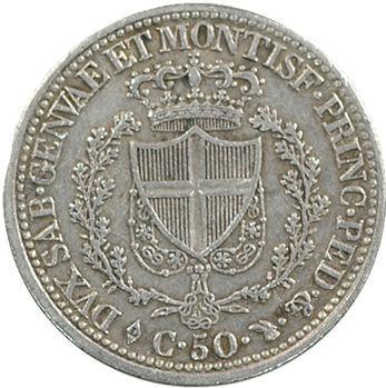 Italie, Savoie-Sardaigne, Charles-Félix, 50 centimes, 1828 Turin