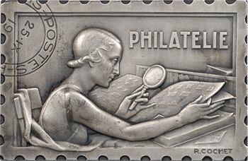 Cochet (R.) : la philatélie, médaille-timbre, 1942 Paris