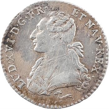 Louis XVI, dixième d'écu aux branches d'olivier, 1787 Orléans