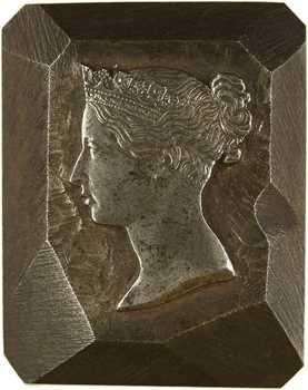 Royaume-Uni, Victoria, poinçon d'effigie en acier, s.d. (c.1860)