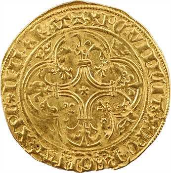 Charles VI, écu d'or à la couronne, 4e émission, Troyes