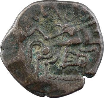 Coriosolites, statère de billon, classe VI au nez en 2 à l'envers (?), c.80-50 av. J.-C.