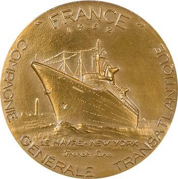 Bateau : Compagnie Générale Transatlantique (C.G.T.), le paquebot France, par Coëffin (J.H.), 1962 (1973) Paris