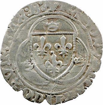Charles VII, blanc à la couronne, 3e émission, Bourges