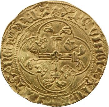 Charles VII, écu d'or à la couronne 3e type, 6e ou 7e émission, Limoges