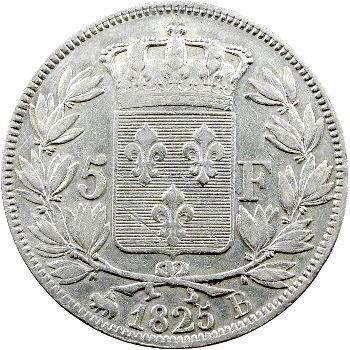 Charles X, 5 francs 1er type, 1825 Rouen