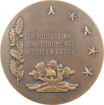 IIe Guerre Mondiale, François Darlan, amiral de la flotte, par G. Guiraud, grand module, s.d. Paris