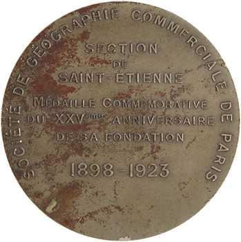 Dupré (G.) : 25e anniversaire de la Société de Géographie de Saint Etienne, à Gaston Doumergue, 1923 Paris