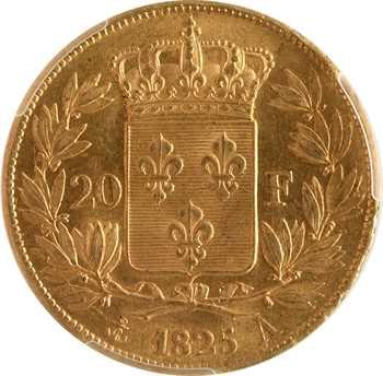 Charles X, 20 francs, 1825 Paris, PCGS MS63