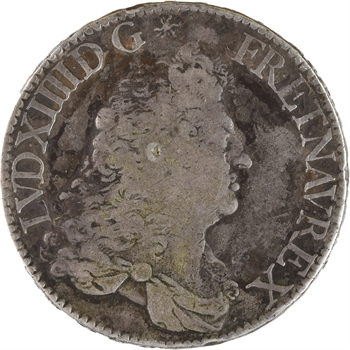 Louis XIV, écu à la perruque et/ou au buste drapé à l'antique, 1687 Paris