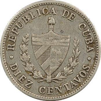 Cuba, République, 10 centavos 1920