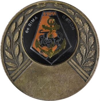 Gabon, le 6e BIMA (Bataillon d'Infanterie de Marine), s.d