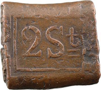 Indonésie / Indes néerlandaises, 2 stuivers, 1818 Java