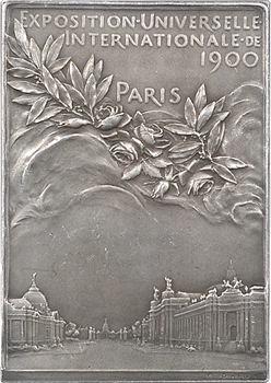 Roty (L.-O.) : Plaque de l'Exposition Universelle, 1900 Paris