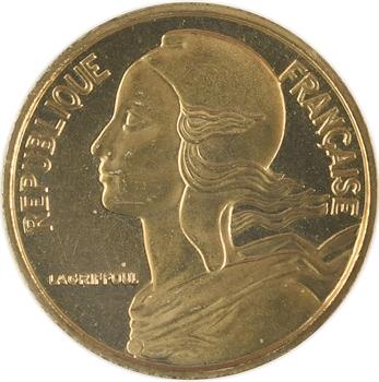 Ve République, piéfort de 5 centimes Lagriffoul, 1966 Paris