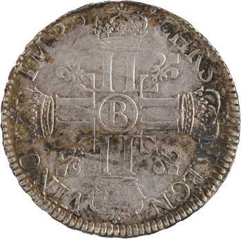Louis XIV, écu aux huit L, 1er type, 1691 Rouen