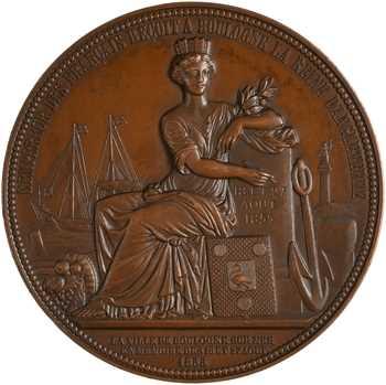 Second Empire, l'Empereur reçoit à Boulogne-sur-Mer la Reine Victoria, 1855 Paris