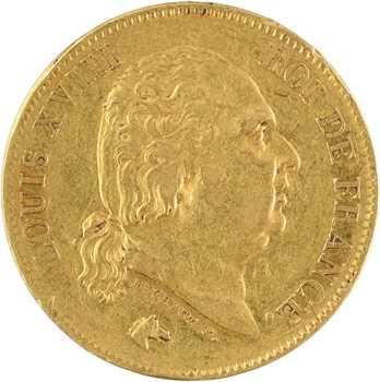 Louis XVIII, 40 francs, 1816 Bayonne