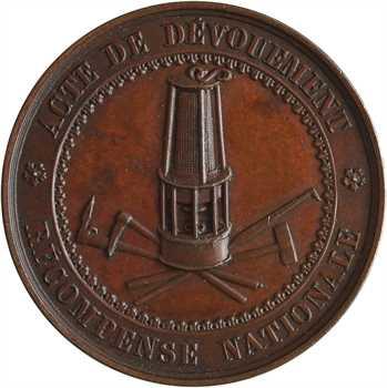 Belgique, Léopold Ier, acte de dévouement, par Wiener, s.d. Bruxelles