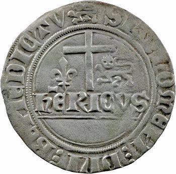 Henri VI, blanc aux écus, Rouen