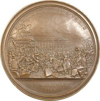 Constitution, arrivée du Roi à Paris, second état du coin, 1789 (fonte postérieure) Paris