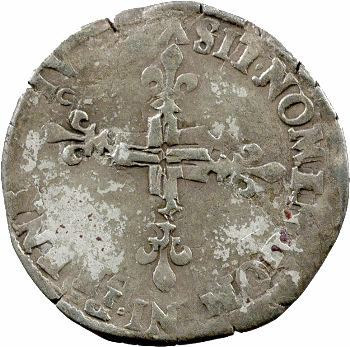 Henri III, double sol parisis, 2e type, 1578 Bourges