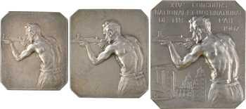 Dubois (H.) : lot de trois plaquettes de tir, s.d. Paris