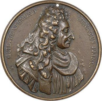 Nesmond (Guillaume de), son décès, par A. Regnard, fonte ancienne, 1693 Paris