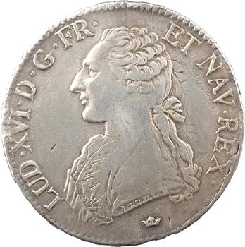 Louis XVI, écu aux branches d'olivier, 1780 Toulouse
