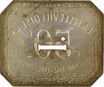 Paris, La Bellevilloise, monnaie de nécessité de 50 cts, s.d