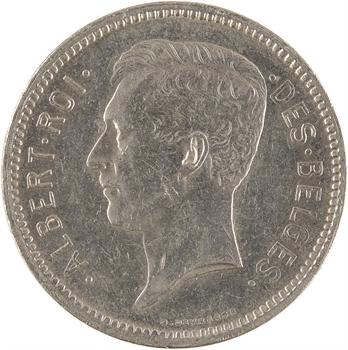 Belgique, Albert, 5 francs, 1933 Bruxelles