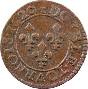Louis XIII, double tournois 2e type, 1620 Poitiers