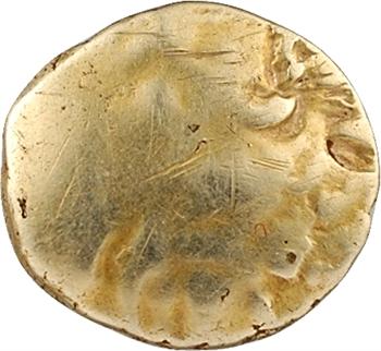 Morins-Atrébates, quart de statère à l'arbre et à la ligne brisée, c.60 av. J.-C