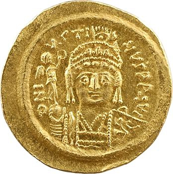 Justin II, solidus, Constantinople, 6e officine, 575-578
