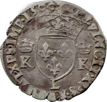 Charles IX, demi-teston 4e type, 1566 Bayonne