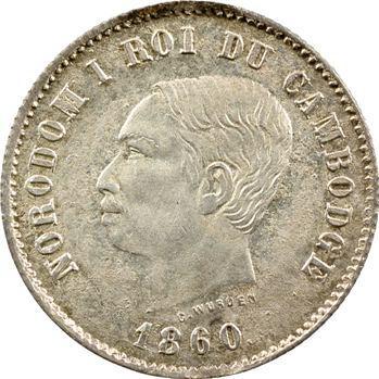 Cambodge, Norodom Ier, deux francs, (1860) 1899 Phnom Penh