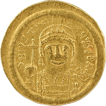 Justinien Ier, solidus, Constantinople, 4e officine, 527-565