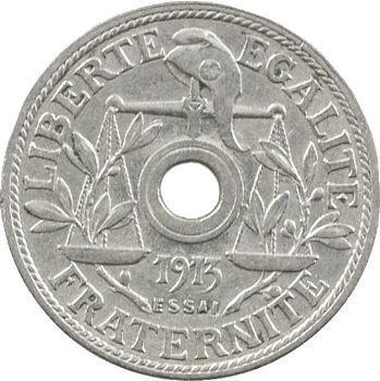 IIIe République, 1er essai de 25 centimes par Becker, petit module, 1913 Paris