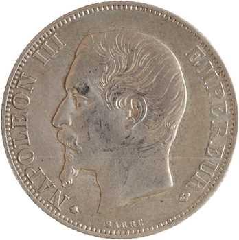 Second Empire, 2 francs tête nue, 1856 Strasbourg
