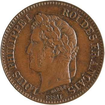 Louis-Philippe Ier, essai de 2 centimes, 1842 Paris