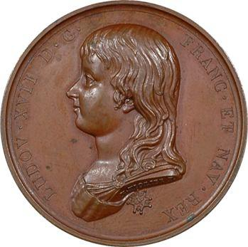 Louis XVII, médaille commémorative de son avènement, époque Restauration