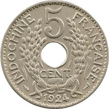 Indochine, 5 centièmes, 1924 Paris