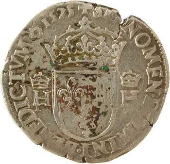 Henri III, teston 4e type, 1575 Rouen