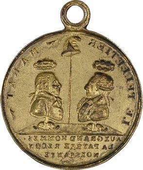 Convention, Le Pelletier et Marat, médaille uniface, s.d. (après 1793)