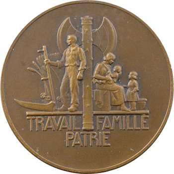 IIe Guerre Mondiale, le Maréchal Pétain, par Pierre Turin, petit module, 1941 Paris