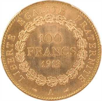 IIIe République, 100 francs Génie, 1913 Paris, PCGS MS64+
